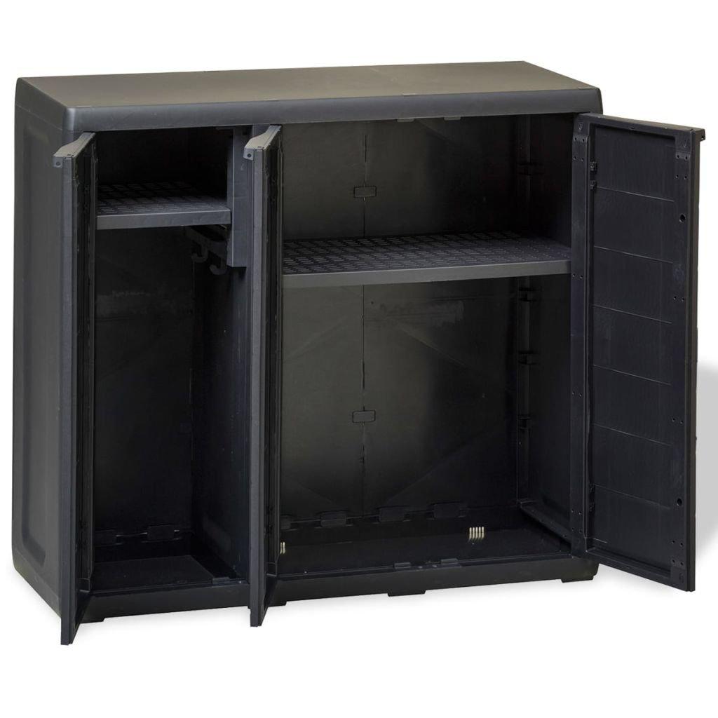 mewmewcat Armario de Jard/ín de Exterior 97 x 38 x 87 cm Negro