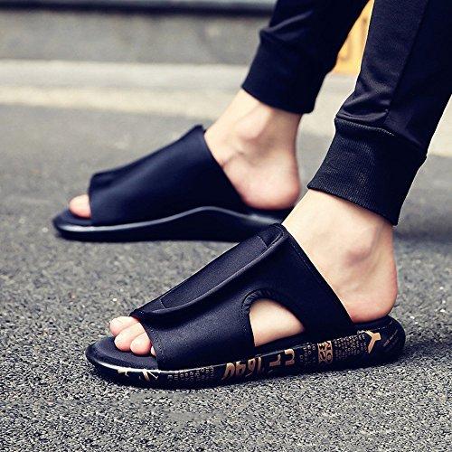 HUO Hausschuhe Mode Dicke Boden Sandalen Männer Outdoor Sommer Rutschfeste TPU Sohle Hausschuhe Strand Schuhe Kühle atmungsaktiv ( Farbe : 2 , größe : EU41/UK7.5-8/CN42 ) 2