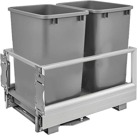 Rev A Shelf Kitchen Organizer Storage Trash Can Waste Container Drawer Slide Out