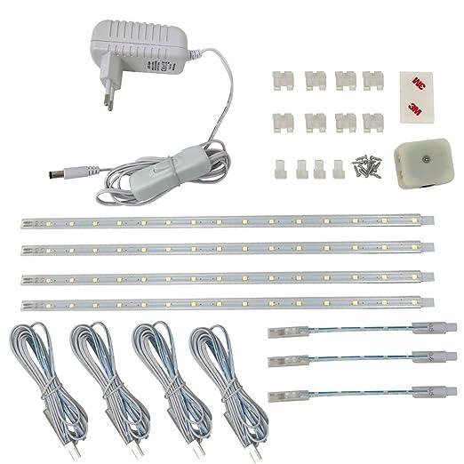 4VWIN - Lampada a LED da incasso, adatta per cucina, per retro di mobili,  in officina., 6500k(kaltweiß), 4-SET 2.00watts 12.00volts