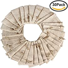 Vovii Burlap Bags with Drawstring, Lot of 30, Perfect Burlap Gift Bags for Jewelry Wedding Party Candy Favor Pouch, 3.5 x 5.0 Inch