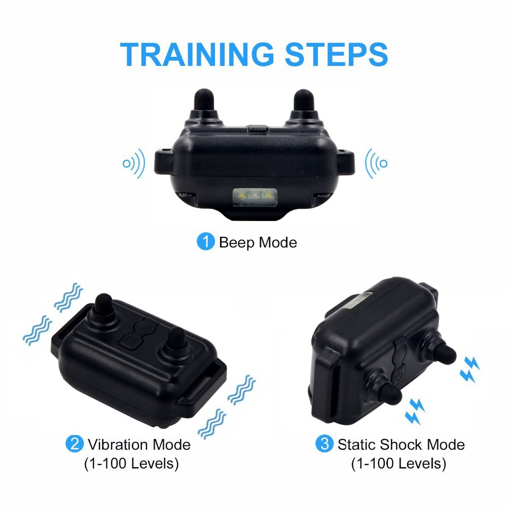 Wodondog Dog Training Collar Rechargeable and IPX7 Waterproof 870yards Remote Dog Shock Collar with Beep Vibration and Shock Electric Collar for All Size Dogs