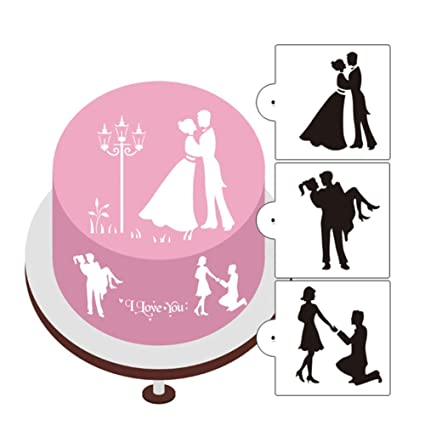Amazoncom 3pcslot Wedding Bride Groom Cake Decoration