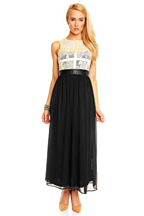 168df3bca16 Mayaadi Kleid Ballkleid Abendkleid Partykleid Festkleid Cocktailkleid  Spitzenkleid HS-302L  Amazon.de  Bekleidung