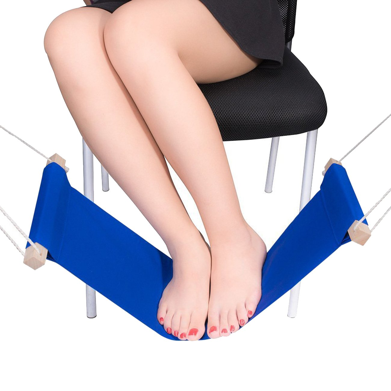 THEE Foot Rest Adjustable Mini Foot Hammock Portable Desk Foot Stool for Home and Office