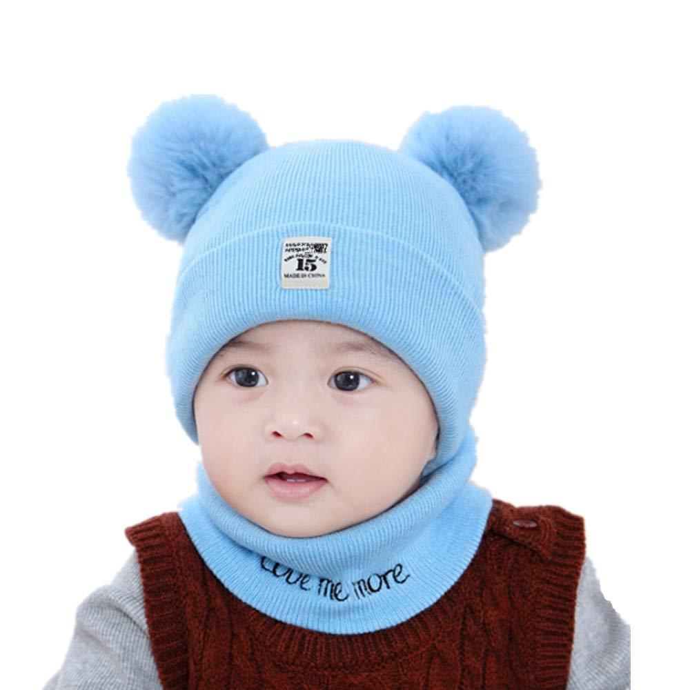Winter Baby Hasenohren stricken Hut Kleinkind Kind Wolle Mütze Kind 0-CN