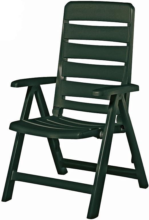 Kettler Nizza Chaise de Jardin Pliante Multiposition Vert ...