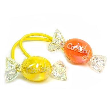dd60d66111cb97 Amazon.co.jp: かわいい・使いやすいキッズポニーヘアゴム/ツインカラーキャンディのヘアポニー ヘアゴム 【C09-38】女の:  服&ファッション小物