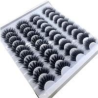 ZCPCS 20 paar 18-25 mm 3d Mink Lashes Bulk Faux dikke lange Onregelmatige Natural Mink Lashes Pack Natuurlijke Valse…