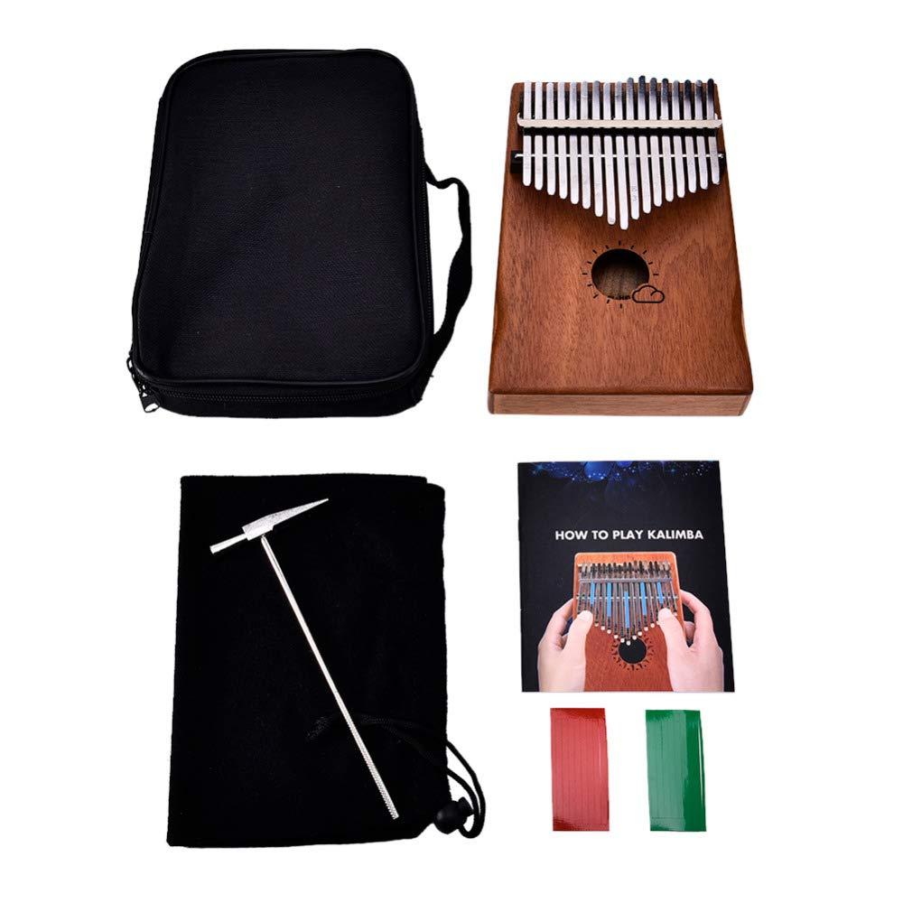 StoreDavid - 17 Key Kalimba 17 African Thumb Piano Kids Adults Music Percussion Keyboard Kit Music Instruments Kids Wood