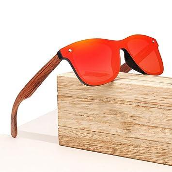 Zbertx Gafas de Sol Vintage de Madera para Hombres con ...