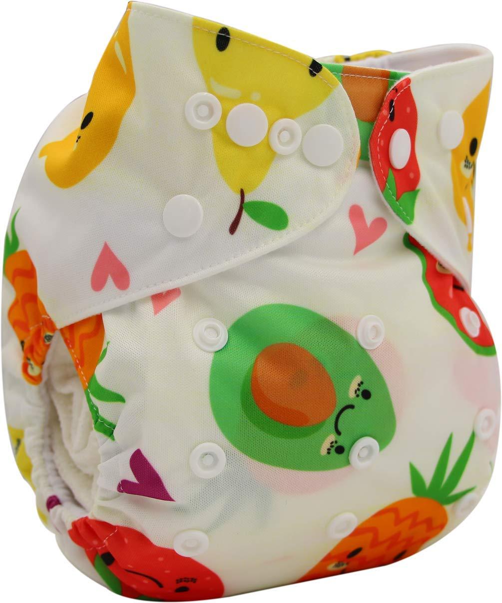 Ohbabyka verstellbare unisex Stoffwindel f/ür Babys mit 1 St/ück Verloureinlage und Tasche f/ür Einsatz
