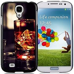 NEW Unique Custom Designed Samsung Galaxy S4 I9500 i337 M919 i545 r970 l720 Phone Case With Whiskey Glass Rocks_Black Phone Case
