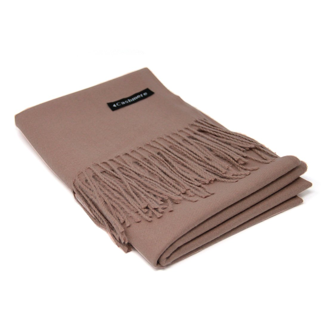 Camel Brown 100% Cashmere Scarf - Gift Box, Large Size, Removable Tag, Limited Availability
