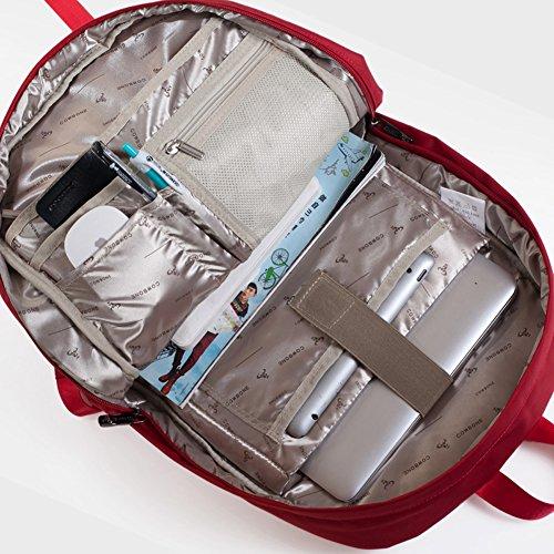 Outdoor peak nylon Jugend Büchertasche Schulrucksack Studententasche (Rot) blau
