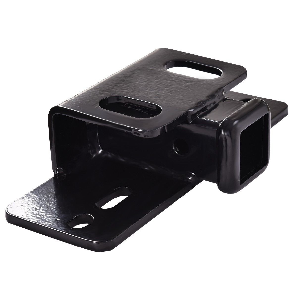 Black Steel Step Bumper Mount Mounting ror 2'' Hitch Receiver Capacity 5000 Lbs