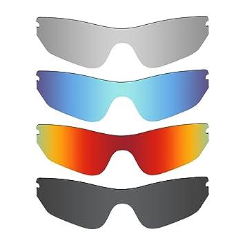 MRY 4 Paires polarisées Lentilles de Remplacement pour Oakley Radar Edge  Sunglasses-Stealth Noir  68d3226e18f6