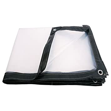 Plástico Impermeable Transparente y Resistente a la Lluvia en cobertizo Plástico Resistente a la Lluvia en cobertizo Grande Multi-Size Opcional (Tamaño : 4 ...
