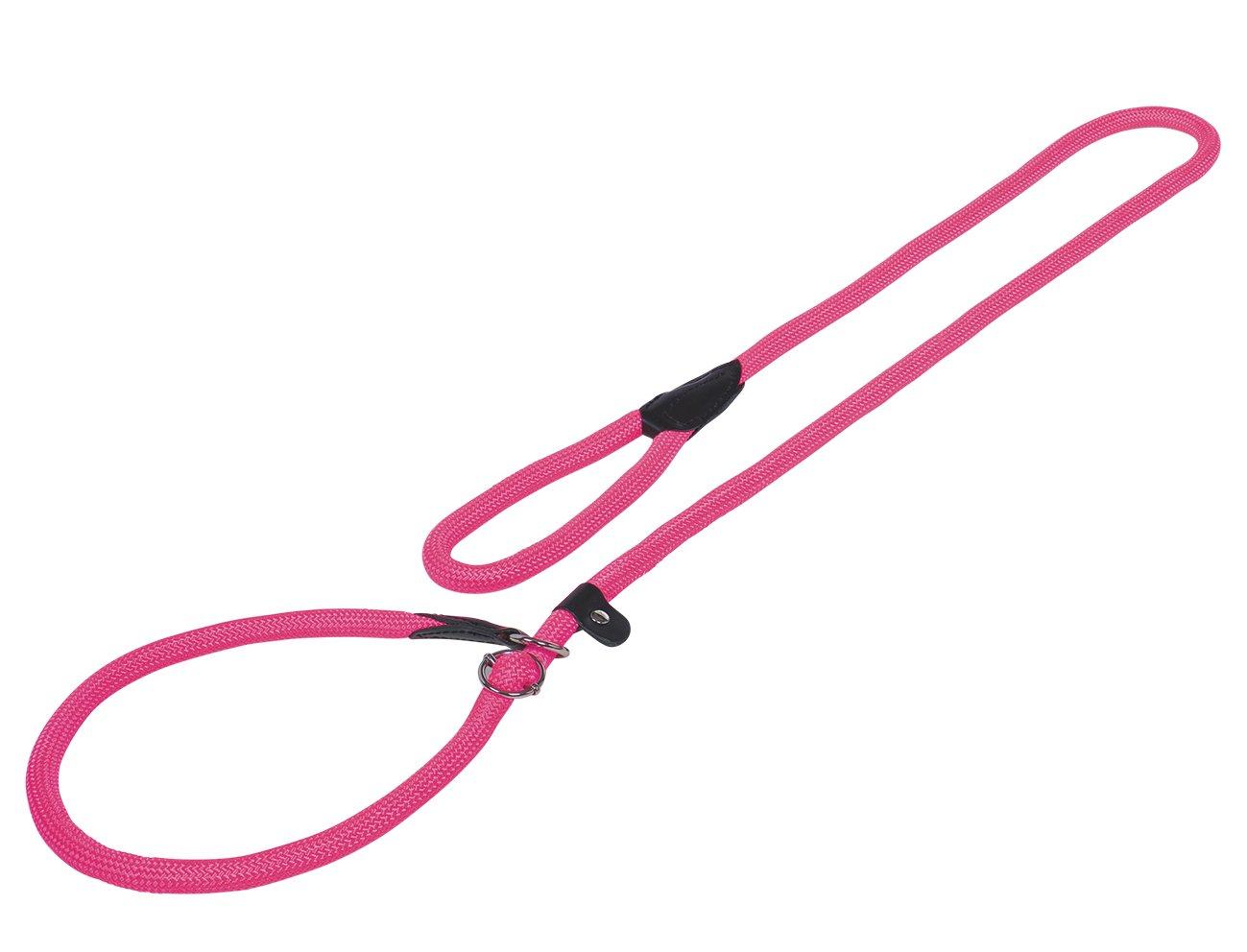 Nobby Lasso Rond en Nylon/Cuir pour Chien 9 mm 170 cm Rose 78189-37