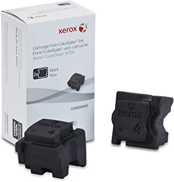 2 Replaces 108R00994 Xerox  ColorQube 8700 Black Solid Ink Qty