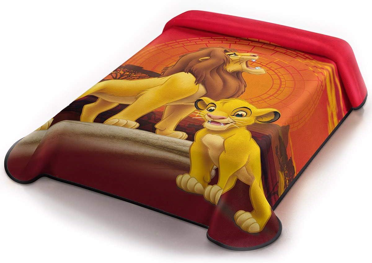 Asditex Couverture pour Enfant en Velours Roi Lion 500 g 160 x 220 cm . lit de 90