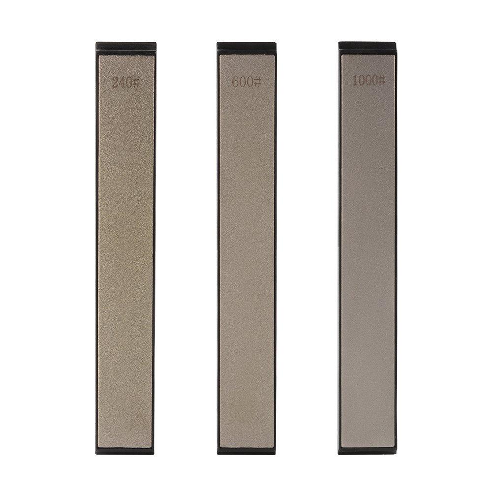 Conjunto de piedras afiladas, Afilador de Cuchillos Profesional Grano 240/600/1000