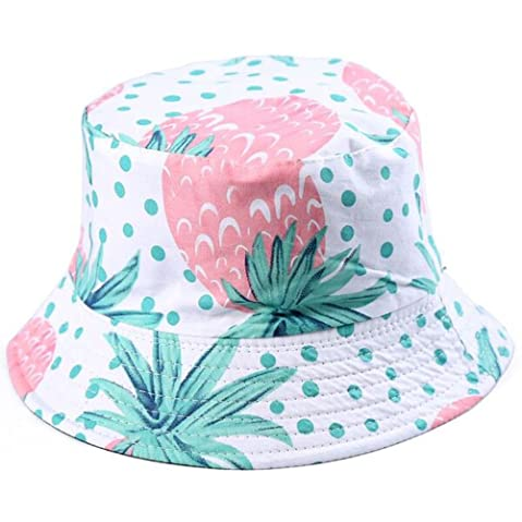 6a069840ea8 BYOS Fashion Packable Reversible Black Printed Fisherman Bucket Sun Hat