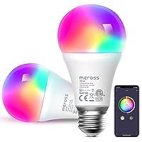 Bombilla LED Inteligente, Wi-Fi Bombilla, Luces Cálidas/Frías RGB, Lámpara Regulable, Multicolor, 60W Equivalente, E27…