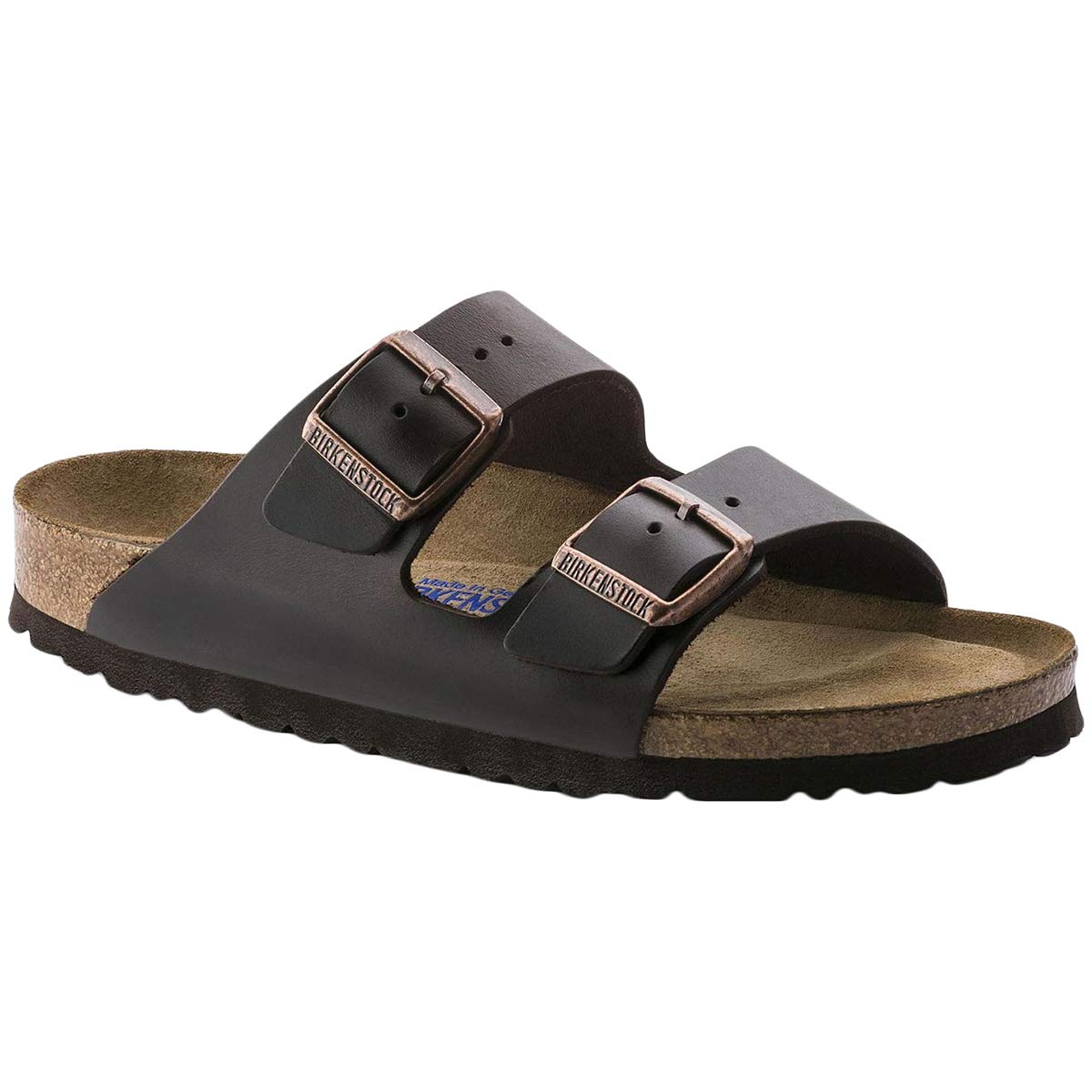 Birkenstock Womens Arizona Soft Footbed Leather Amalfi Testa Di Moro Sandals 8 US