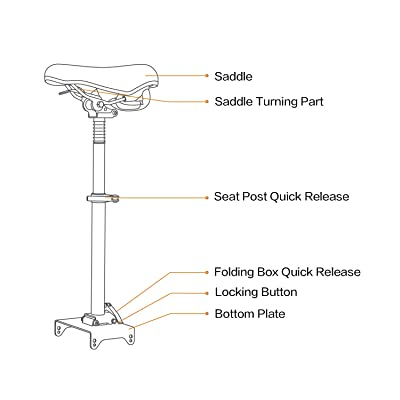 Details about  /Original Shock-Absorbing Folding Seat Saddle for MAX G30 ninebot Electric