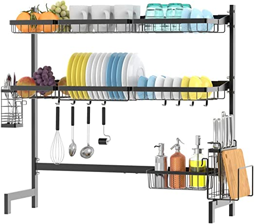 Amazon Com Over The Sink Dish Drying Rack Ace Teah 2 Tier Dish