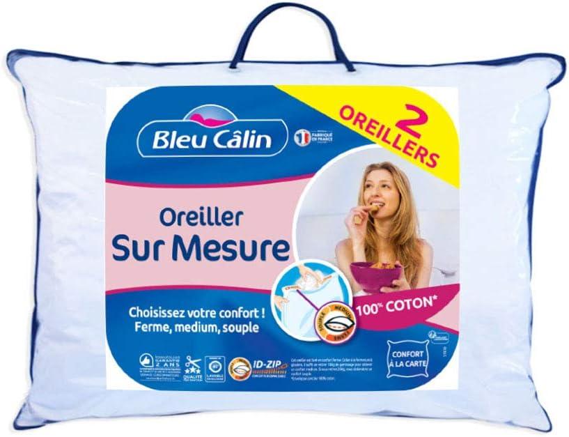 Coussin Anti-Allergie Tailles Et Lots Diff/érents Oreiller 100/% Microfibre 40 x 80 Lavable Volume 950g Ajustable Lot de 2 Blumtal