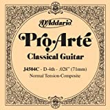 D\'Addario J4504C Pro-Arte Composite Classical Guitar Single String, Normal Tension, Fourth String