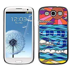 X-ray Impreso colorido protector duro espalda Funda piel de Shell para SAMSUNG Galaxy S3 III / i9300 / i747 - Modern Art Skies Alien Planet Blue Red