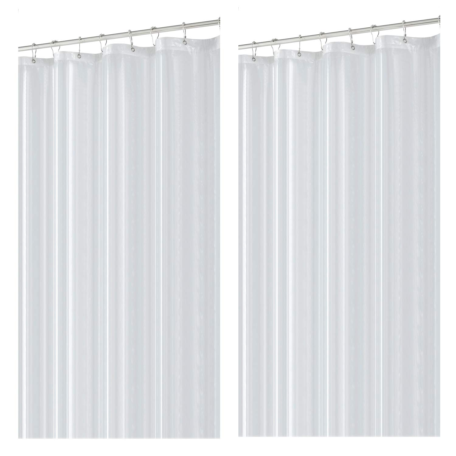 Eforcurtain Small Width Curtains 36 by 72 Inch Modern Classic White Waffle Bathroom Shower Curtain Waterproof abric Shower Curtain for Indoor Use