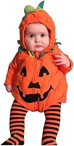 BaZhaHei - Disfraz de Halloween para niño con Capucha, Calabaza y ...
