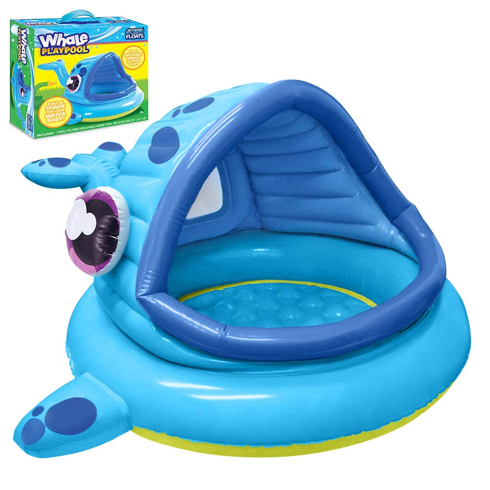 """JOYIN Whale Baby Shade Beach Tent Kiddie Pool Play Tent (54"""" x 56"""" x 28"""") for Summer Blow Up Pool, Swim Party Toys, Infants and Young Fun Beach Lounge Pit."""