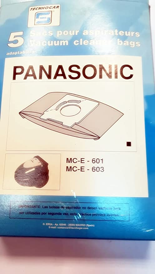 Taurus Bolsas Aspirador COMPATIBLES PANASONIC MC-E-601 MC-E-603 ...