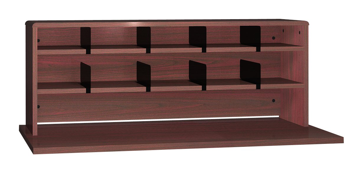 Ironwood 2 Shelves Desk Top Organizer, 48'', Mahogany (DTO47MH)