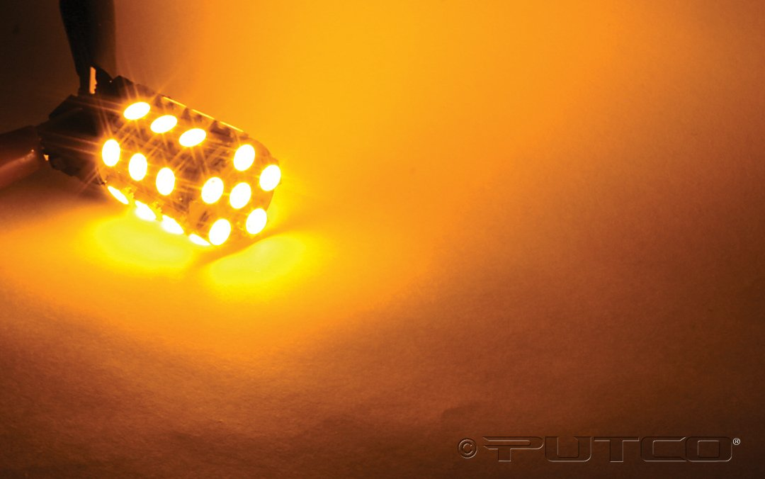 Single Bulb Putco Amber 237443A-360-S Type 360-Degree High Intensity LED Premium Replacement Bulb