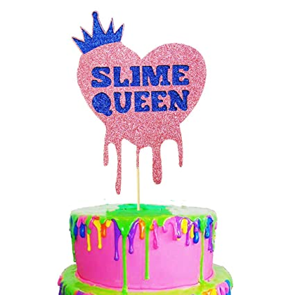 Excellent Heeton Slime Queen Cake Topper For Slime Birthday Baby Shower Funny Birthday Cards Online Necthendildamsfinfo