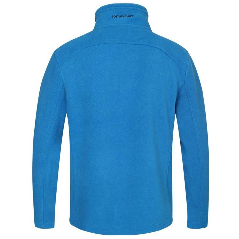 Somewhere Men's Full-Zip Fleece Composite Colors Autumn/Winter Essential Slim-Fitting Jacket(XXL) by Somewhere (Image #3)