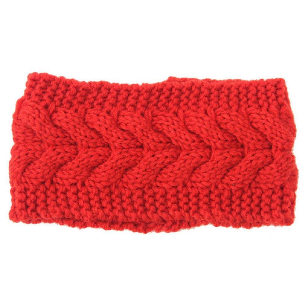 ILOVEDIY Bandeau Tressé Laine Tricot Tete Cheveux Femme Large Crochet Hiver Chaud