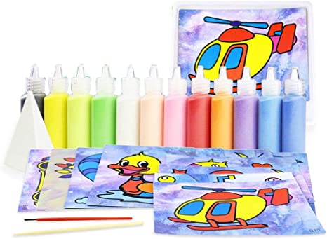 Toyvian Sand Art Kits For Kids Sand Painting Set Art Craft Toy For Kids Children Toys Games Amazon Canada