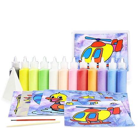 YeahiBaby Manualidades para Niños Arena Educativo Set de Pintura Temprana Juguete Educativo para Niños DIY Artesanía