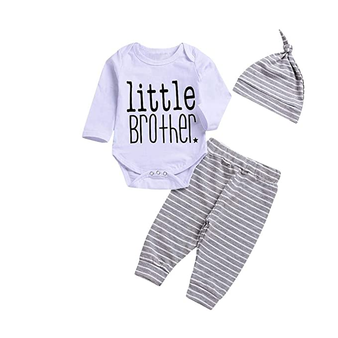 ASHOP Body Bebe niño Conjunto niño Verano Camisa Ropa Recien Nacido (Blanco,70 (