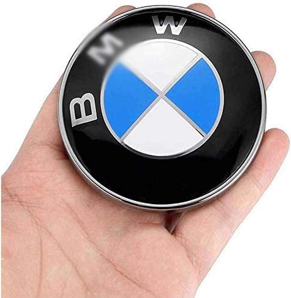 82mm Tailgate Trunk 2 Pieces Set Emblems for BMW E32 E34 E36 E38 E39 E46 E90 E91 E93 E60 E81 E87 E88 E65 E66 F01 F03 G11 X1 X3 X5 X6 Car Logo Emblems 82mm Hood