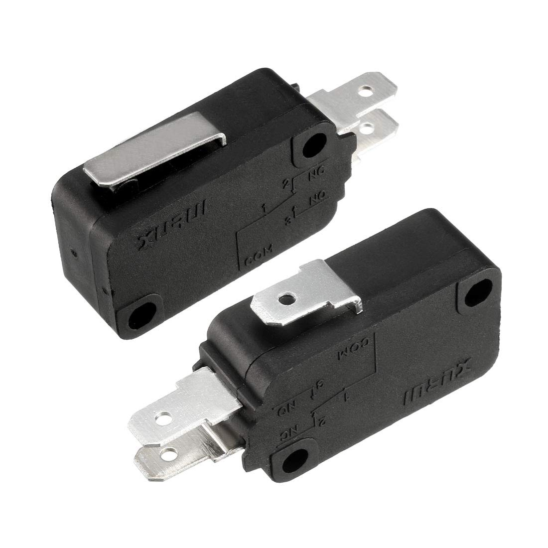 uxcell XURUI Authorized 16A 250V AC 3 Terminals SPDT NO+NC Snap Button Type Micro Switch