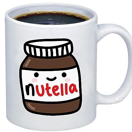 ZMvise Custom Art Cute Tumblr Nutella Taza de ceramica ...