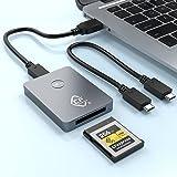 CFexpress Card Reader, Rocketek USB 3.1 Gen 2 10Gbps CFexpress Reader, Portable Aluminum CFexpress Memory Card Adapter Thunde